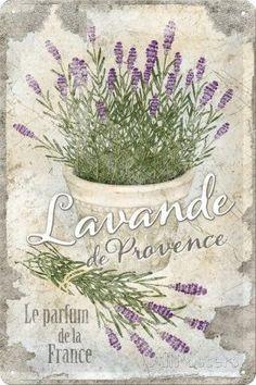 Nostalgic-Art 22200 Home & Country - Lavande de Provence, Blechschild cm
