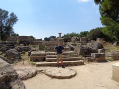 Eingang zum Zeus-Tempel in Olympia