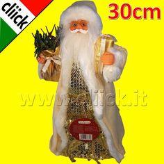 Christmas Puntale per albero di Natale Babbo Natale 30cm addobbi natalizi regali
