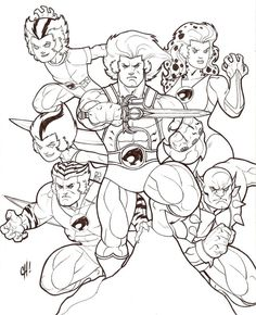 thundercats coloring pages 02 80s cartoons colouring - Cartoons Pictures For Colouring