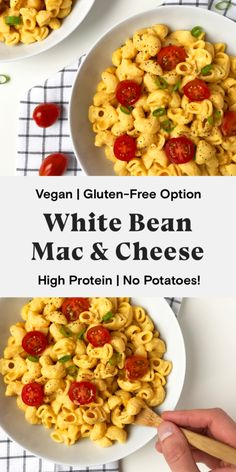 Mac Cheese Recipes, Vegan Mac And Cheese, Dairy Free Recipes, Vegan Recipes, Gluten Free, Vegan Foods, Canellini Beans, Vegan Comfort Food, Vegan Pasta