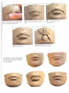 make clay head Sculpting Tutorials, Clay Tutorials, Pottery Sculpture, Sculpture Clay, Ceramic Sculpture Figurative, Polymer Clay Sculptures, Clay Projects, Clay Crafts, Ceramic Pottery