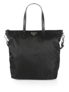 mens wallets prada - Prada Shopping Nylon Tote with Crossbody Strap - Corinto BN 2031 ...