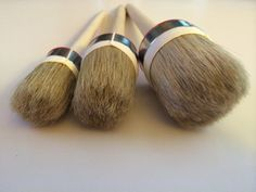 Store Inventory : #HQ3 (Quality Round Brushes)   OUR HOTTEST SELLER - 100`S OF SETS SOLD MONTHLY SET OF 3 ROUND PURE BRISTLE BRUSHES designed for waxing and chalk paints MULTIPACK of 3 round brushes #HQ3  SIZES : 1 XL , 1 L , 1 M XL: Diameter: 5cm / 2 Bristle length: 5cm or 2 Handle: