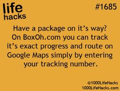Have a PACKAGE on its way?  How to TRACK it!