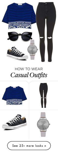 """casual"" by xutopicx on Polyvore featuring Emilio Pucci, Topshop, Converse, Olivia Burton, women's clothing, women's fashion, women, female, woman and misses"