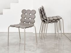 Stackable polyurethane chair MINTS - Geelli by C.S.