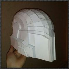 Star Wars - Stealth Mando Helmet Custom Free Papercraft Download - http://www.papercraftsquare.com/star-wars-stealth-mando-helmet-custom-free-papercraft-download.html