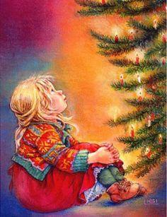 Risultati immagini per lisi martin christmas cards Merry Little Christmas, Merry Christmas And Happy New Year, Christmas Greetings, Illustration Noel, Christmas Illustration, Vintage Christmas Images, Christmas Pictures, Christmas Scenes, Christmas Past