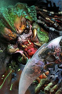 Aliens vs Predator #1 cover by Glen Fabry #comics #art