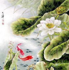 Birds and Autumn Lotus  A true master of Chinese brushwork, Lou Dahua (b.1948) studied art at the Beijing and Shanghai Universities. He has...