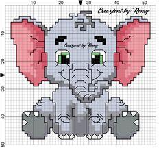 Schema elefantino punto croce