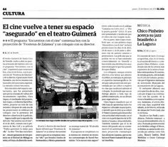 ENCUENTROS CON EL CINE 1. El Día, 20/02/2014
