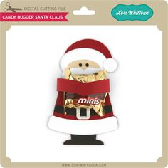 Candy Hugger Santa Claus - Lori Whitlock's SVG Shop
