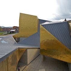 ~ Obsessed with the copper-aluminum alloy panel cladding - Auditorium Atlantida by Josep Llinas in Spain ~