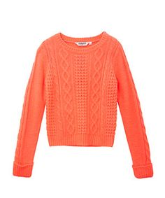 Coral Cable Knit Jumper
