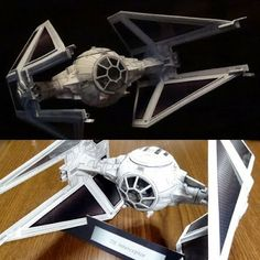 Tektonten Papercraft - Free Papercraft, Paper Models and Paper Toys: Star Wars Papercraft: TIE Interceptor