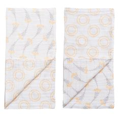 Product image for Muslin Blankies set of 2 - Wildflower/Halo