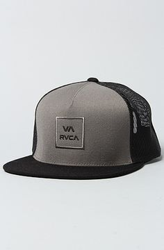 RVCA The VA All The Way Trucker Hat in Pavement Black
