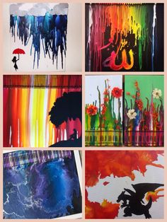 Cool melted crayon art. I really like these Colbie :)