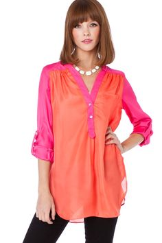 Grenelle Blouse in Poppy / ShopSosie #blouse #tops #poppy #shopsosie