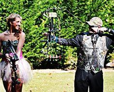 homecoming  camo dress  bows