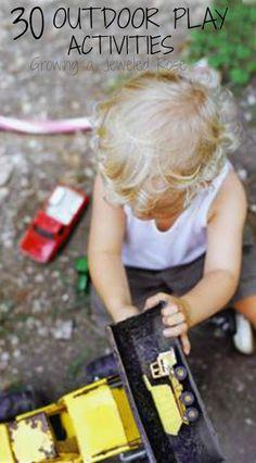 30 Outdoor Play Activities for kids