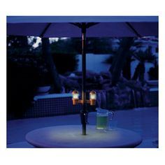Solar Umbrella Clip Lights Gorgeous Clip On Solar Patio Umbrella Lights  Garden Misc Pinterest Design Ideas