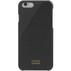 Native Union Leather Edition Clic iPhone 6 Case (€46) ❤ liked on Polyvore featuring men's fashion, men's accessories, men's tech accessories and mens leather accessories