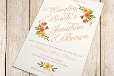 Printable Wedding Invitation and RSVP Card Fall by plpapers