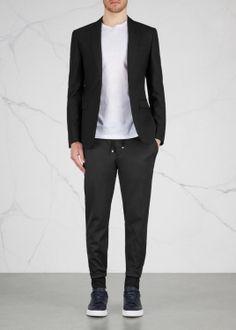 PAL ZILERI LAB- Black wool blend trousers (RN)