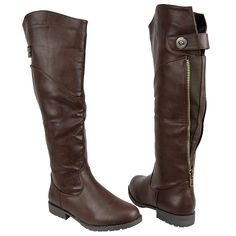 Womens Knee High Boots Over The Knee Button Accent Comfort Shoes ** You can find more details by visiting the image link.