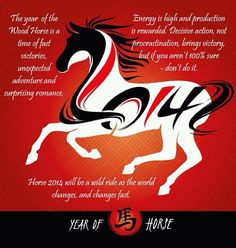 2014.  The year of the horse.  January 31.