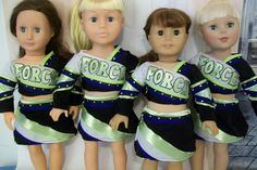 MADE TO ORDER. American Girl Doll Cheer/Dance Uniforms Custom Made. on Etsy, $38.00 American Girl Crafts, American Doll Clothes, American Girls, Dance Uniforms, Cheer Uniforms, Sports Uniforms, Boy Doll, Girl Dolls, My Life Doll Clothes