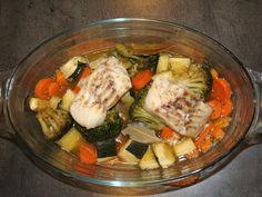 Poisson et légumes au four : Recette de Poisson et légumes au four - Marmiton
