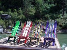 A Fun and Amazing PullApart Ski Chair by ourwhimsicalgarden, $79.00