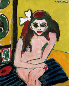 theories-of:  Ernst Ludwig Kirchner , Marcella, 1909-10, Oil on canvas, 76 x 60cm