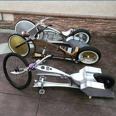 Off the hook custom bikes! Cruiser Bicycle, Motorized Bicycle, Custom Cycles, Custom Bikes, Cool Bicycles, Cool Bikes, Virago 535, Monocycle, Lowrider Bicycle