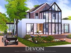 Devon is a cozy home for a small sim family. Found in TSR Ca.-Devon is a cozy home for a small sim family. Found in TSR Category 'Sims 4 Resid… Devon is a cozy home for a small sim family. Found in TSR Category 'Sims 4 Resid… – - Sims 4 Family House, Sims 4 Modern House, Sims 2 House, Sims 4 House Plans, Sims 4 House Building, Sims 4 House Design, Build House, Building Games, Sims 3 Houses Ideas