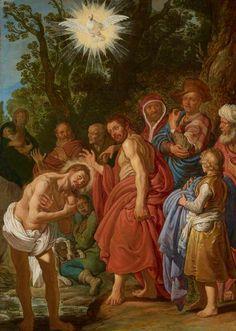 Pieter Lastman - De doop van Christus