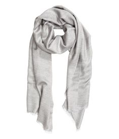 Woven Scarf in Light Grey   H&M US