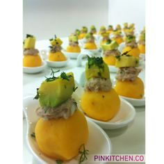 Causas Limeñas! #Pinkitchen Cantaloupe, Sushi, Eggs, Cold Appetizers, Thanks, Events, Finger Foods, Egg As Food, Egg