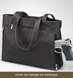 Concealed Carry Purse - Shoulder Portfolio | GunHandbags.com