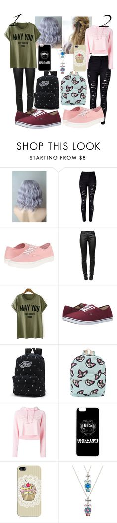 """""""1 or 2?"""" by kim-haru-badgirl-00 ❤ liked on Polyvore featuring beauty, WithChic, Vans, T By Alexander Wang, Steve J & Yoni P, Casetify and Carole"""
