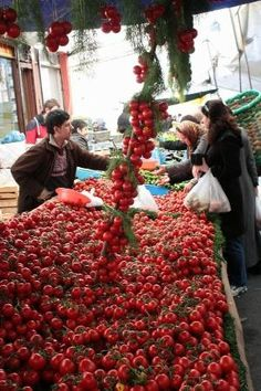 Vegetable market in Istanbul