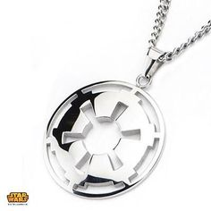 Star Wars IMPERIAL CREST MEDALLION Mens Necklace in Stainless Steel