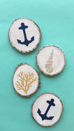 DIY Painted Wood Slices