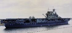 USS Hornet (CV-8) at Peral Harbor, Hawaii, following the Halsey-Doolittle Raid, 1942. The ships is painted in Measure 12 (Modified) camouflage, with Sea Blue 5-s, Ocean Gray 5-O and Haze Gray 5-H coloration.