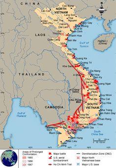 Map of the vietnam war