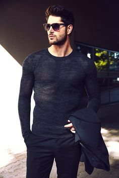 smart casual look with all black ❤ ℒℴvℯ Nick Bateman Nick Bateman, Smart Casual, Casual Looks, Men Casual, Mode Masculine, Mens Fall Outfits, Fashion Moda, Mens Fashion, Style Fashion